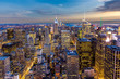 Aerial New York City manhattan Skyline
