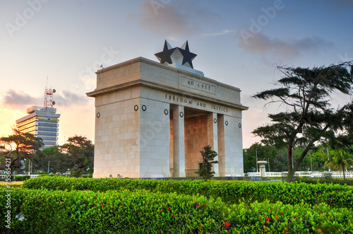 Independence Arch, Accra, Ghana Canvas Print
