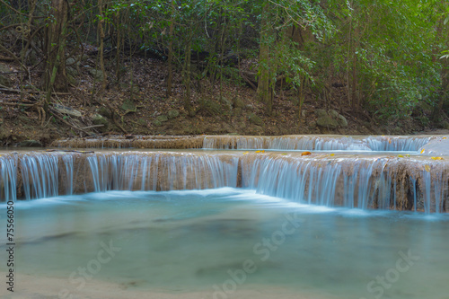 Fototapety, obrazy: Level 1 of Erawan waterfall National Park of Thailand