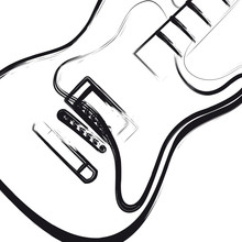 Electric Guitar Hand Drawn, You Can Easy All Editable