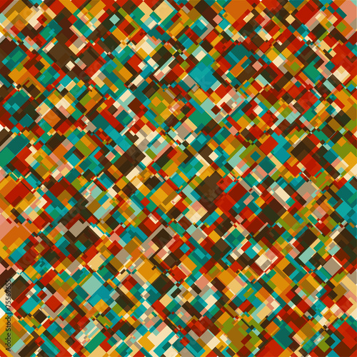 Spoed Fotobehang Psychedelic Abstract Geometrical Multicolored mosaic Background.