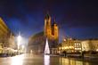 The Main Market Square in Krakowat night, Poland