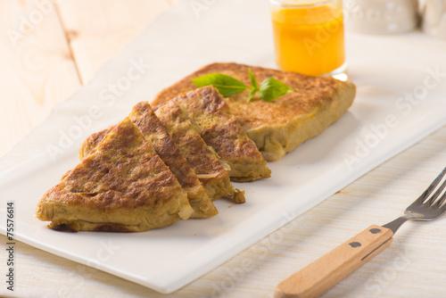 Photo  Martabak or murtabak, also mutabbaq, is a stuffed pancake is com