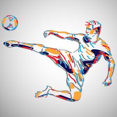 Panel Szklany Sport piłka nożna wektor