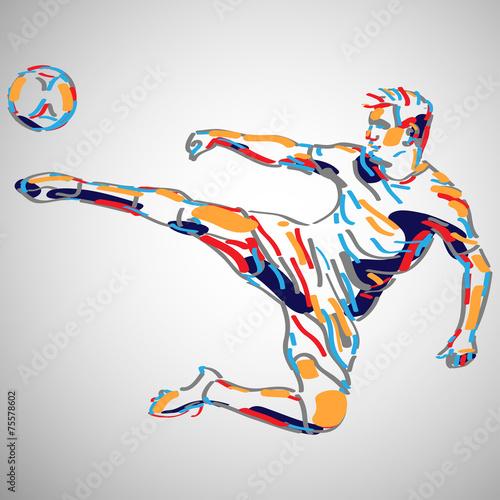 piłka nożna wektor - 75578602