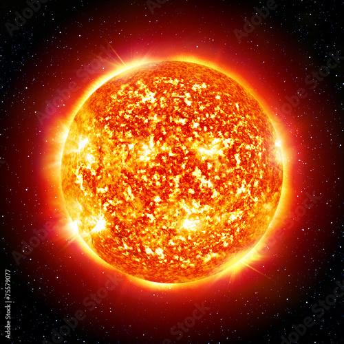 fototapeta na lodówkę Słońce planety