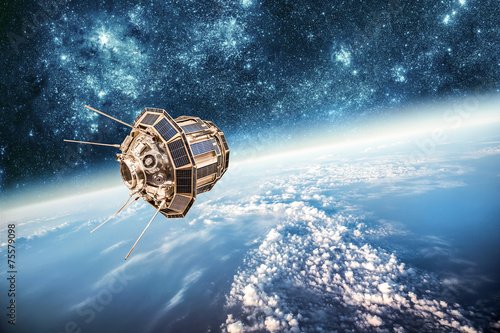 Obraz Space satellite Elements of this image furnished by NASA. - fototapety do salonu