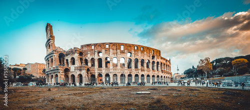 Tableau sur Toile Colosseum in Rome
