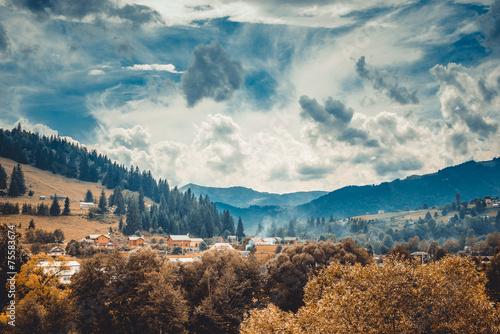 Obraz landscape in mountains Karpaty - fototapety do salonu