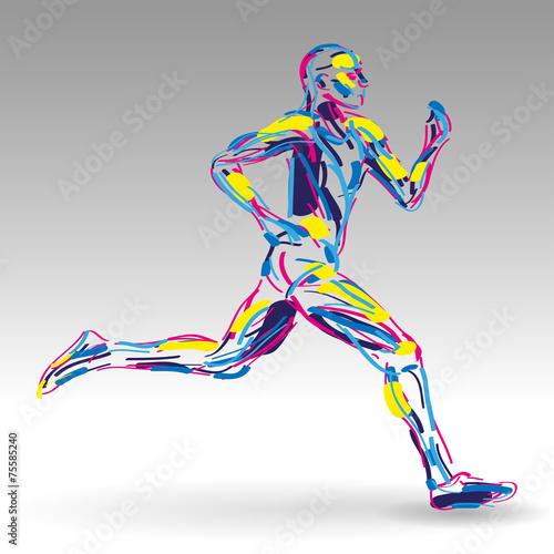 biegacz-rysunek-wektor