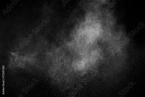 Fotografia  abstract white powder explosion