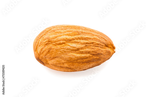 almond isolated on white background Canvas Print