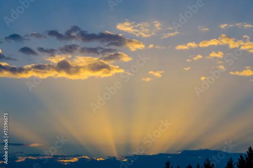 Fototapeta Dramatic sky storm obraz na płótnie
