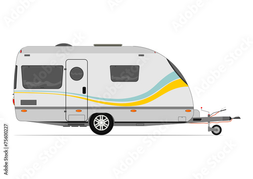 Photo Modern caravan