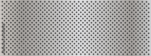 Obraz na plátne  Metal perforated texture background banner