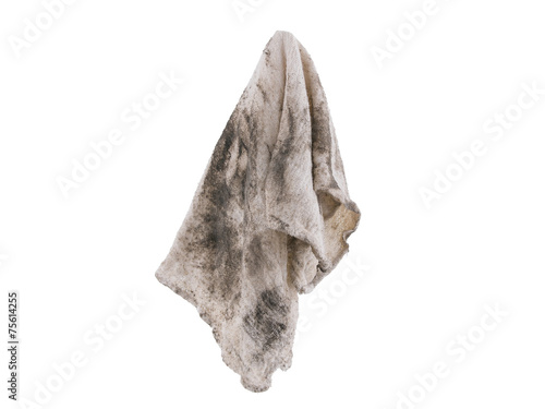 31e59e71f918c Dirty rag suspended isolated on white background - Buy this stock ...