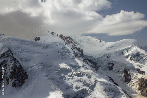 Fototapeta Mont Blanc massif in the Alps obraz na płótnie