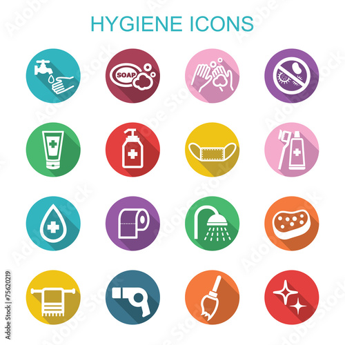 Fotografía  hygiene long shadow icons