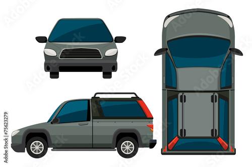 Staande foto Cartoon cars Car