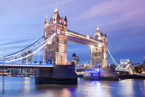 Fototapety, obrazy: Tower Bridge twilight London, England, UK