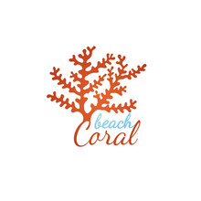 Coral Beach Logo Template