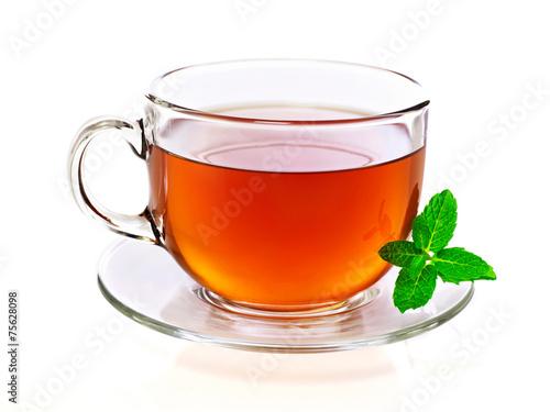 Fotografie, Obraz  Šálek čaje s mátou