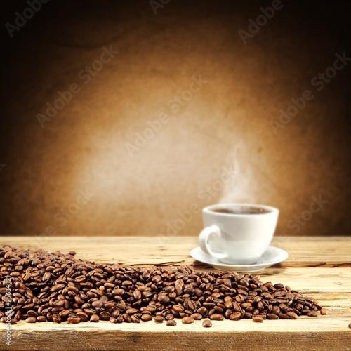 Poster Café en grains cafe