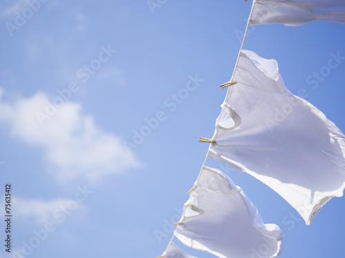 Fotografie, Obraz  青空と洗濯物