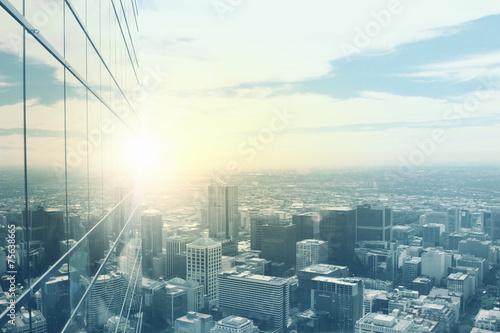 fototapeta na szkło Nowoczesne widok na miasto