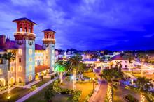 St. Augustine, Florida, USA Town Citysape At Alcazar Courtyard
