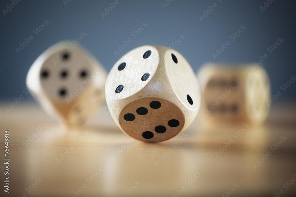 Fototapeta Rolling the dice
