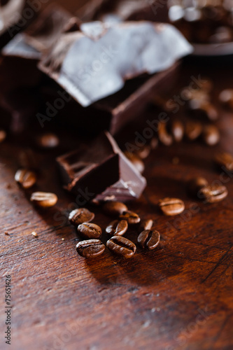 Foto op Aluminium Snoepjes coffee and chocolate