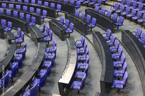 Fotografia  Sitze im Bundestag