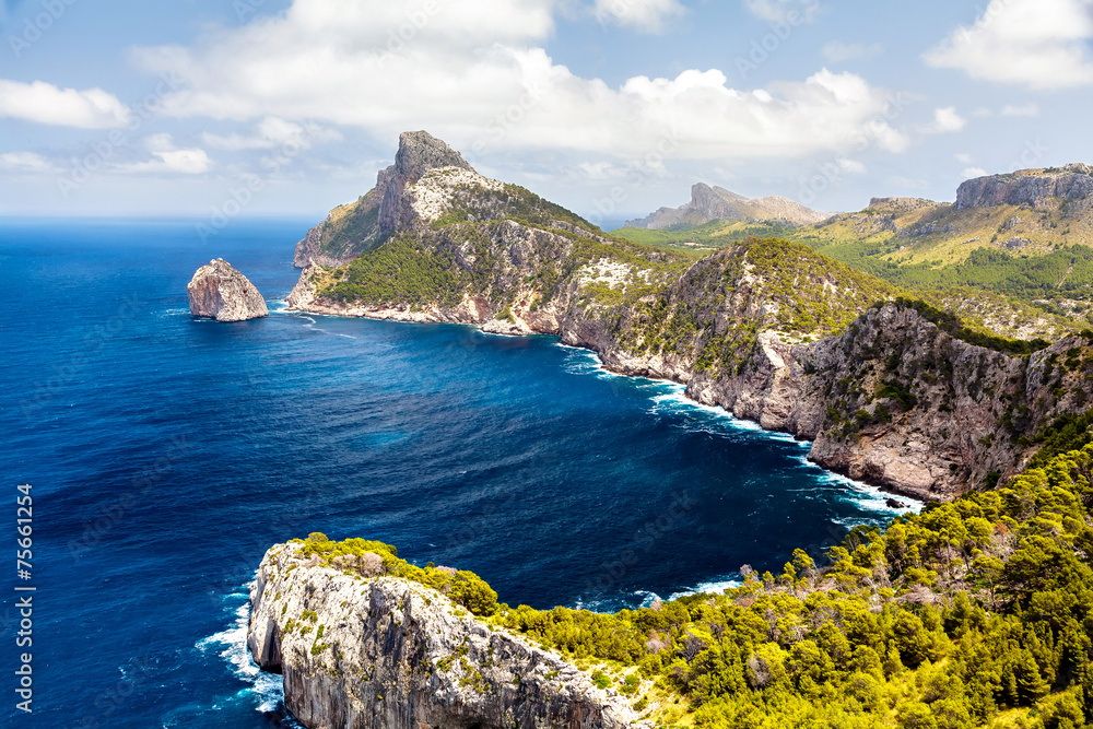 Fototapety, obrazy: Panoramic view of Cape Formentor. Mallorca