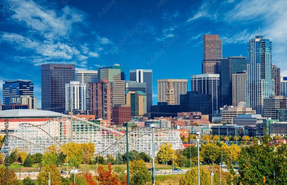 Fototapeta Sunny Day in Denver Colorado