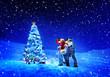 Leinwandbild Motiv Christmas Holiday