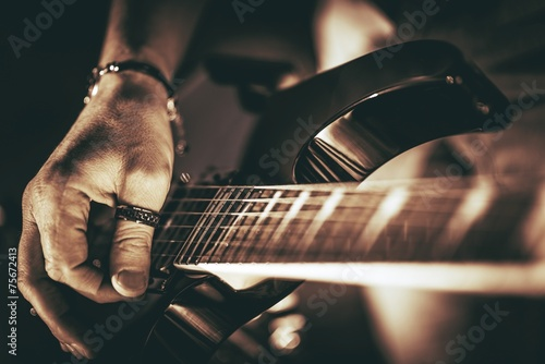 Obraz Rockman Guitar Player - fototapety do salonu
