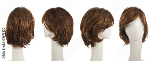 Fotomural Hair wig over the mannequin head