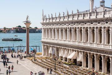 Panel Szklany Podświetlane Wenecja Dettagli di Piazza San Marco, Venezia, Veneto, Italia