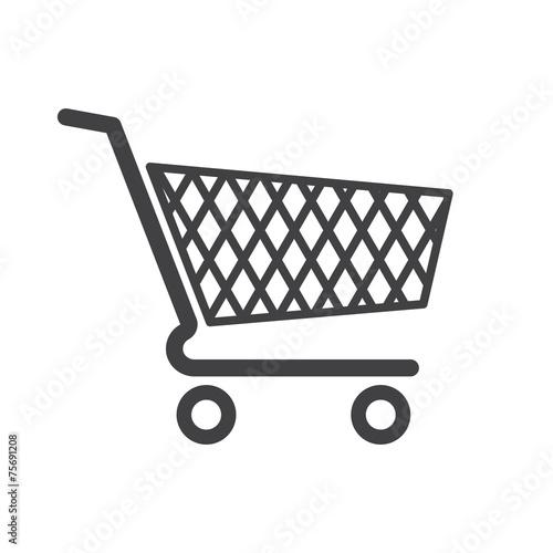 Fotografie, Obraz  Shopping cart icon