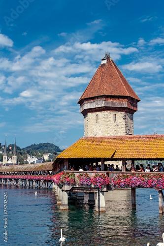 Foto op Aluminium Rudnes Beautiful landscape Luzern. Switzerland.