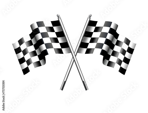 Chequered Checkered Flag Motor Racing Wall mural