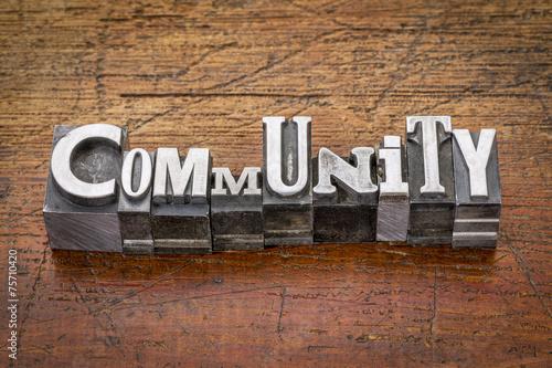Fotografie, Obraz  Komunita v kovovém typu