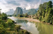 Landscape Of Nam Song River At...