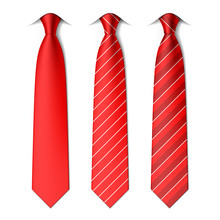 Red Plain And Striped Ties