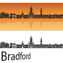 Bradford Skyline In Orange Background