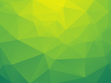 Abstract Triangular Yellow Gre...