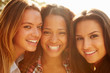 canvas print picture - Portrait Of Three Female Friends On Holiday