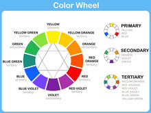 Color Wheel Worksheet - Red Bl...