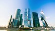4k timelapse. Moscow International Business Center so-called Moscow-City skyscrapers, consist of business, residential and lifestyle clusters. Moscow, Russia.